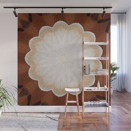 Cafe con Leche Coffee Mandala Abstract Wall Mural