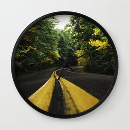 new england road Wall Clock