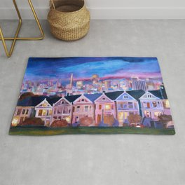 San Francisco - Painted Ladies - Alamo Sq Rug