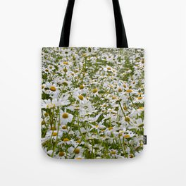 White and Yellow Daisies Tote Bag