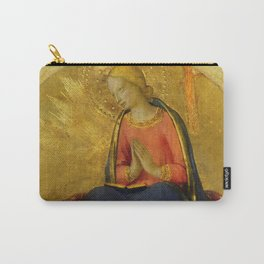 """Fra Angelico (Guido di Pietro) """"Perugia Altarpiece - Annunciation of the Virgin Mary"""" Carry-All Pouch"""