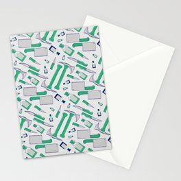 Murder pattern Green Stationery Cards