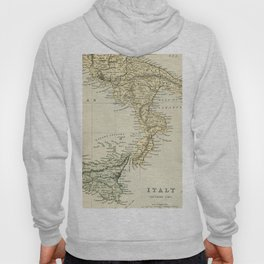 Vintage Retro Map Southern Italy Hoody
