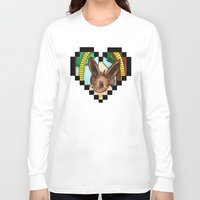 eevee Long Sleeve T-shirts featuring Eeveevolution Series - Eevee by Jazmine Phillips