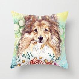 Sweet Sheltie Throw Pillow