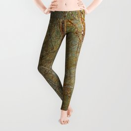 Forest Green Marble Leggings