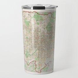 Map of Moscow (1957) Travel Mug
