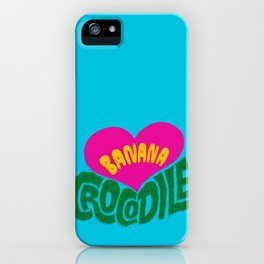 Banana Love and the Crocodile  iPhone Case