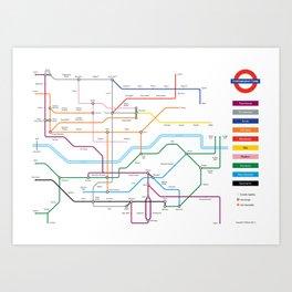Type Tube Art Print