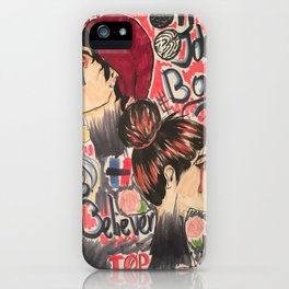 Johnny Boy and Miss Believer iPhone Case