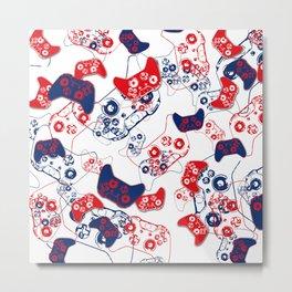 Video Game Red White & Blue 3 Metal Print