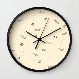 Cancer Pattern - Beige Wall Clock