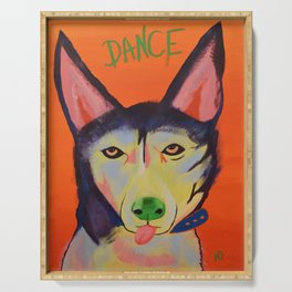 Dance Dog Serving Tray
