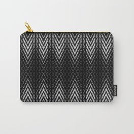Op-Art Black and White Tribal Arrowhead Pattern Carry-All Pouch