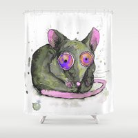 rat Shower Curtains featuring Rat by Bwiselizzy