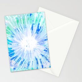 Tie dye blue Stationery Cards