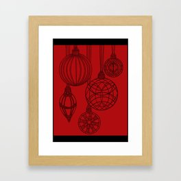 Ornaments in Red Collection (design 2) Framed Art Print