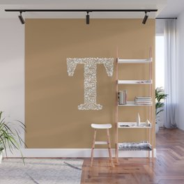 Floral Letter T Wall Mural