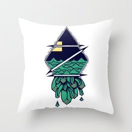 Spilling out Throw Pillow