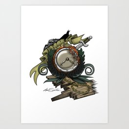 End Of Time Art Print
