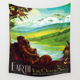 Earth - Your Oasis in Space Wall Tapestry