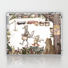 Mr.Brown is late for the market Laptop & iPad Skin