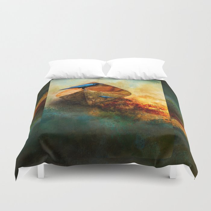 Beached Crow Duvet Cover