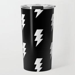 BOLT ((white on black)) Travel Mug