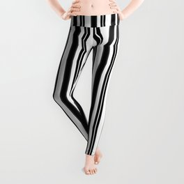 Ticking Black and White Leggings