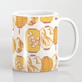 Vintage Chinese Lantern Illustration Pattern (ORANGE) Coffee Mug