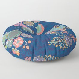 Chinz dark blue Floor Pillow