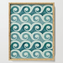 Vintage Waves - Tropical Teal Serving Tray