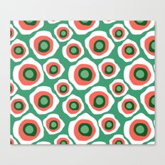Fried Circles, Minty Yam Canvas Print