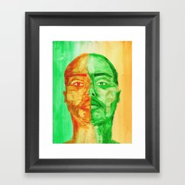 Viridian Vermillion Framed Art Print