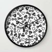 marina Wall Clocks featuring Marina by Kayla Nicole