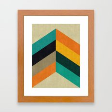 Minimalist and colorful chevron Framed Art Print