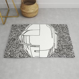 DP RAM abstract line art by melisssne Rug