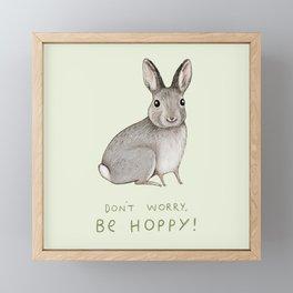 Don't Worry Be Hoppy Framed Mini Art Print