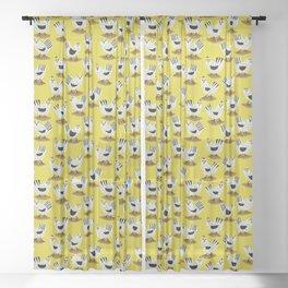 Fowl Mood Sheer Curtain