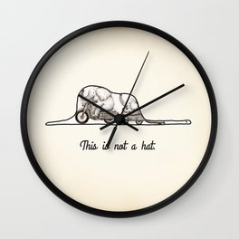 This is not a hat Wall Clock