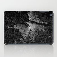 portland iPad Cases featuring portland map by Line Line Lines