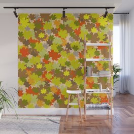 Bed of leaves Wall Mural