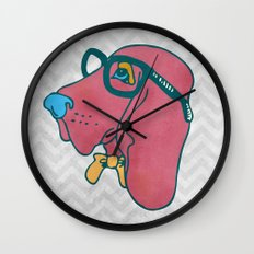 Rufus the Intelligent Geek Hound Wall Clock