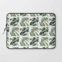 Greenery Squares Watercolor Painting Laptop Sleeve