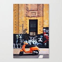 Orange Scooter Canvas Print