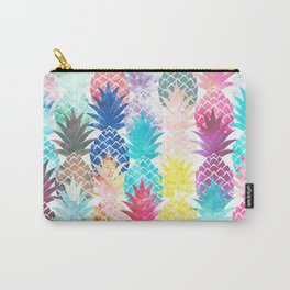 Hawaiian Pineapple Pattern Tropical Watercolor Carry-All Pouch