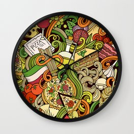 Pizza Pasta Italian Food Wall Clock