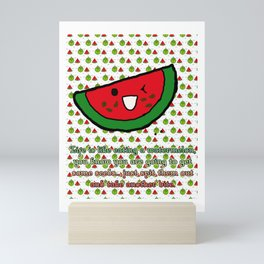 Watermelon (Spit the seeds out!) Mini Art Print