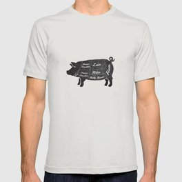 PORK BUTCHER DIAGRAM (pig) T-shirt