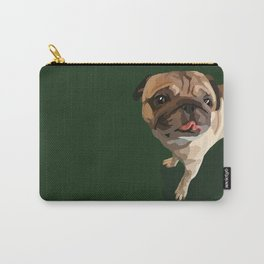 Pug on Green - Vector Carry-All Pouch